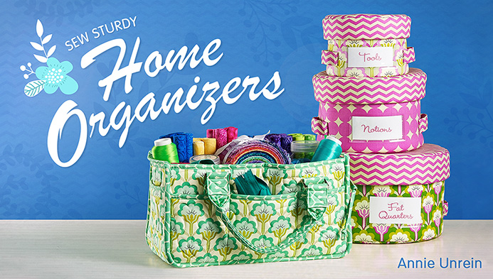 Learn how to make sturdy fabric baskets to keep everything organized in your space.