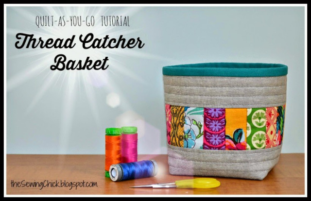 Thread Catcher | 12 Free Fabric Basket Patterns | The Sewing Loft