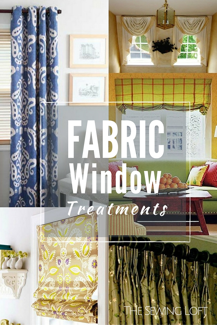 Fabric window treatments are a great way to update the look of any room. Here's a look at some of the most common window decor that you can make.