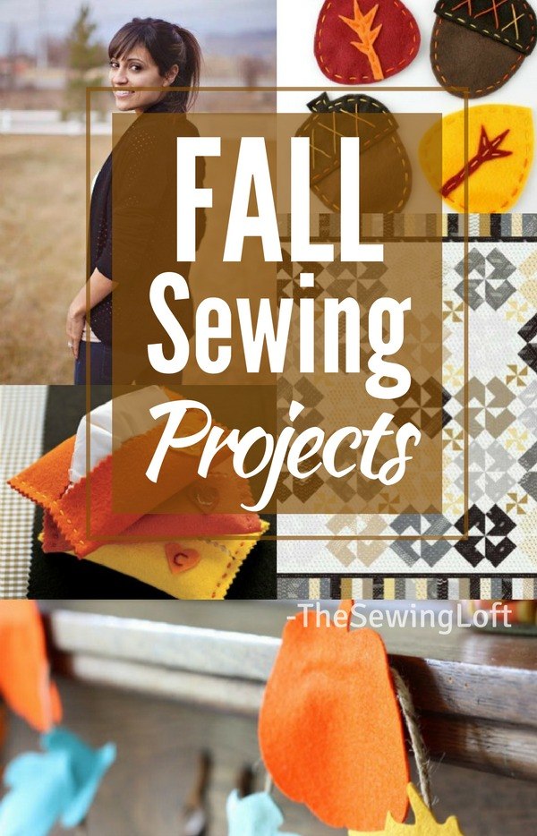 Embrace the cool weather, enjoy the crisp air and drool over the glorious bursts of colors with these easy to make Fall DIY Sewing projects.