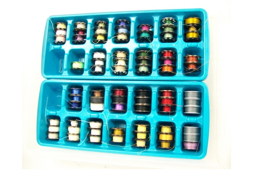 Tame your loose bobbin threads with these creative bobbin storage solutions. They are sure to help keep your threads detangled and drawers clean. The Sewing Loft