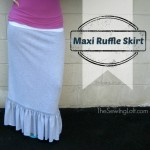 Easy Maxi Skirt Pattern with ruffle | The Sewing Loft