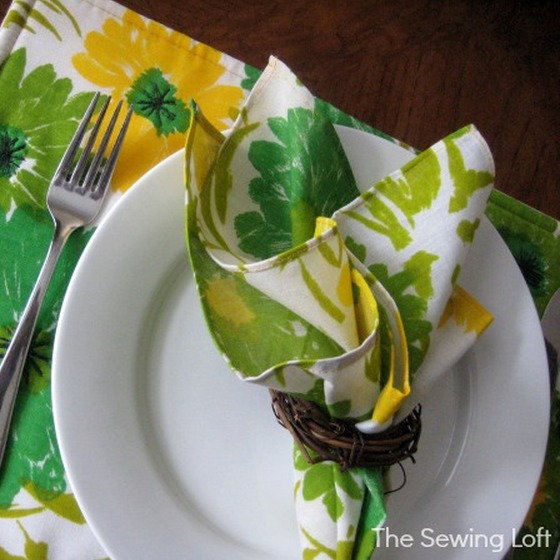 Learn how to make classic placemats with matching napkins. The Sewing Loft