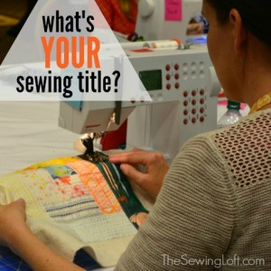 What's your stitching title?