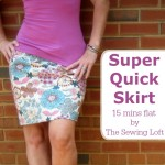 Learn how to make the Simplest Skirt Ever! No pattern required. Easy to follow instructions are on The Sewing Loft