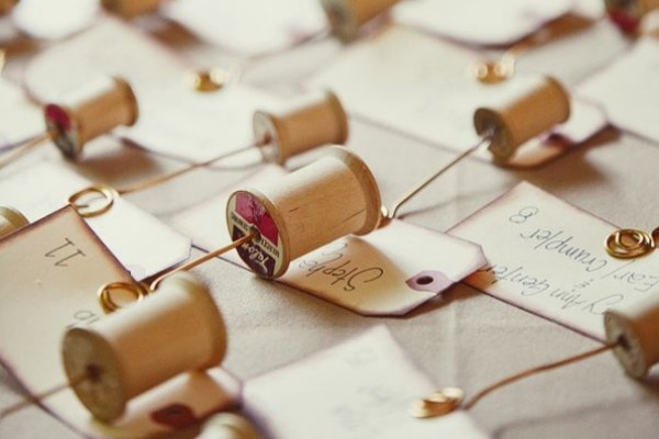 Creative usages for vintage thread spools. The Sewing Loft