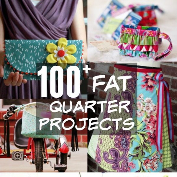 Stop staring at those cute little fabric bundles you picked up at the store and select a few of your favorites from this list of over 100 fat quarter projects with free patterns. The Sewing Loft