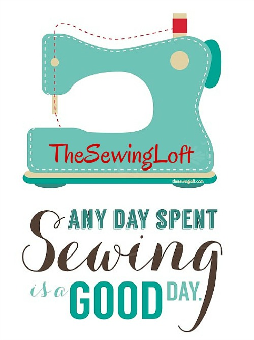 Good Day Sewing Printable Art is perfect to hang in the studio! The Sewing Loft