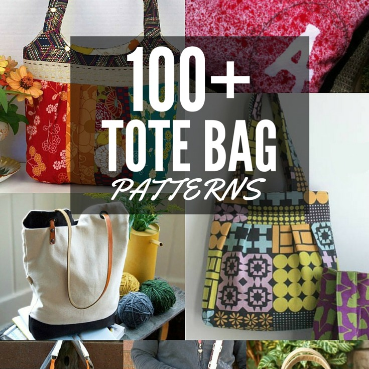 I'm treating myself to a new bag with this amazing list of over 100 FREE Tote Bag Patterns from The Sewing Loft