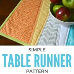 Freshen up your space with this easy to make table runner. Not only is it quick to make but you can change it out with each season. The Sewing Loft