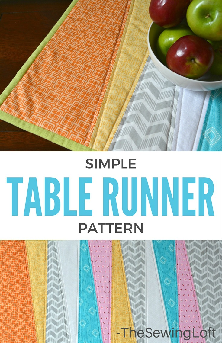 simple table runner diy the sewing loft. Black Bedroom Furniture Sets. Home Design Ideas