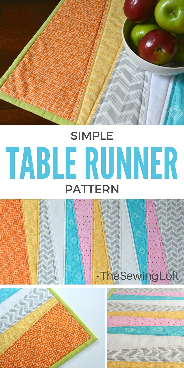 Thanks to the easy make pattern from The Sewing Loft, I was able to make this table runner. It's a great way to freshen up your space with a splash of color!