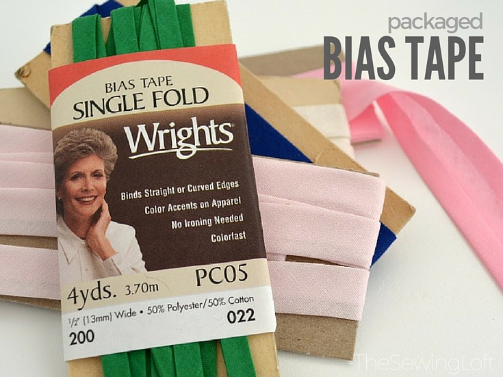 Did you know that you can purchase pre packaged bias tape? It comes in a variety of colors and can really add a pop of color to any project.