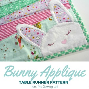 Bunny Applique Table Runner