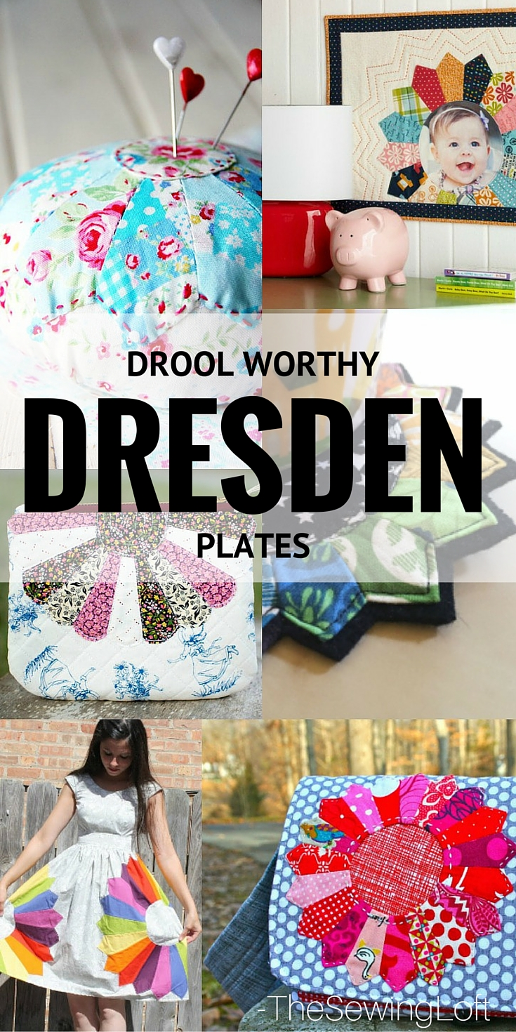 Dresden Plates are perfect for smaller fabric scraps and so easy to make. Check out these drool worthy dresden projects from The Sewing Loft.