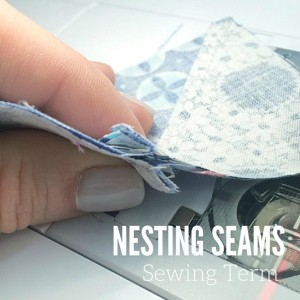 Nesting Seams | Sewing Term