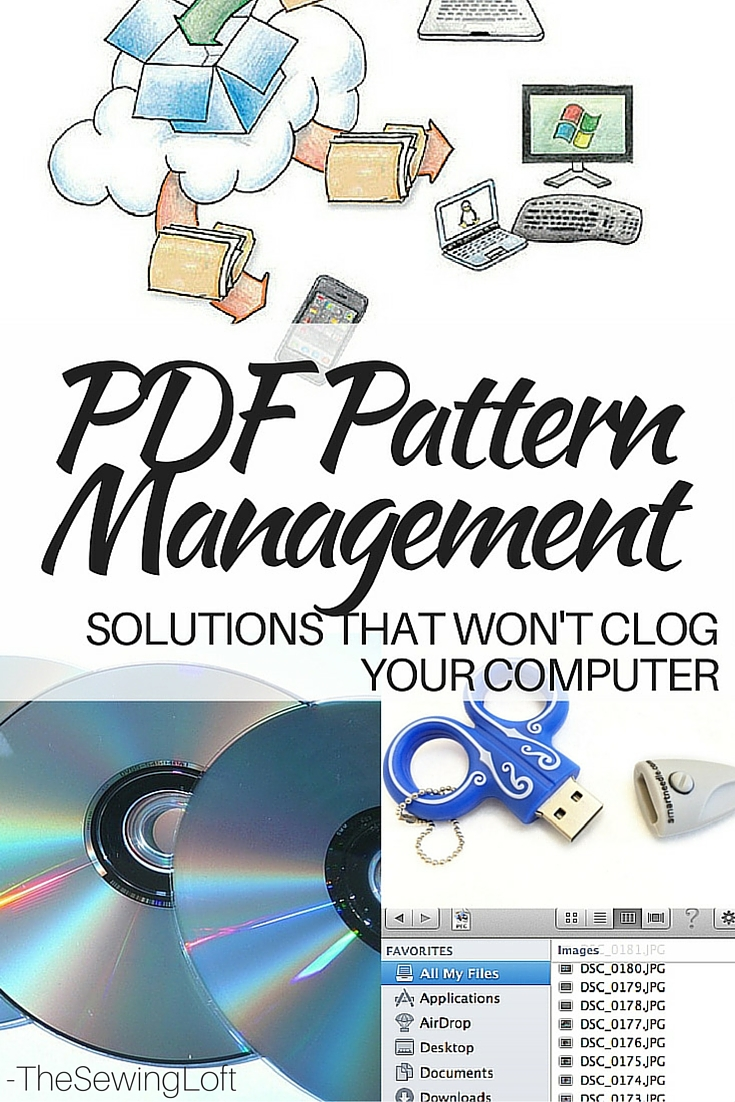 Instead of clogging up your computer with free pdf patterns, try one of these simple pdf storage solution ideas to keep everything neat and organized.
