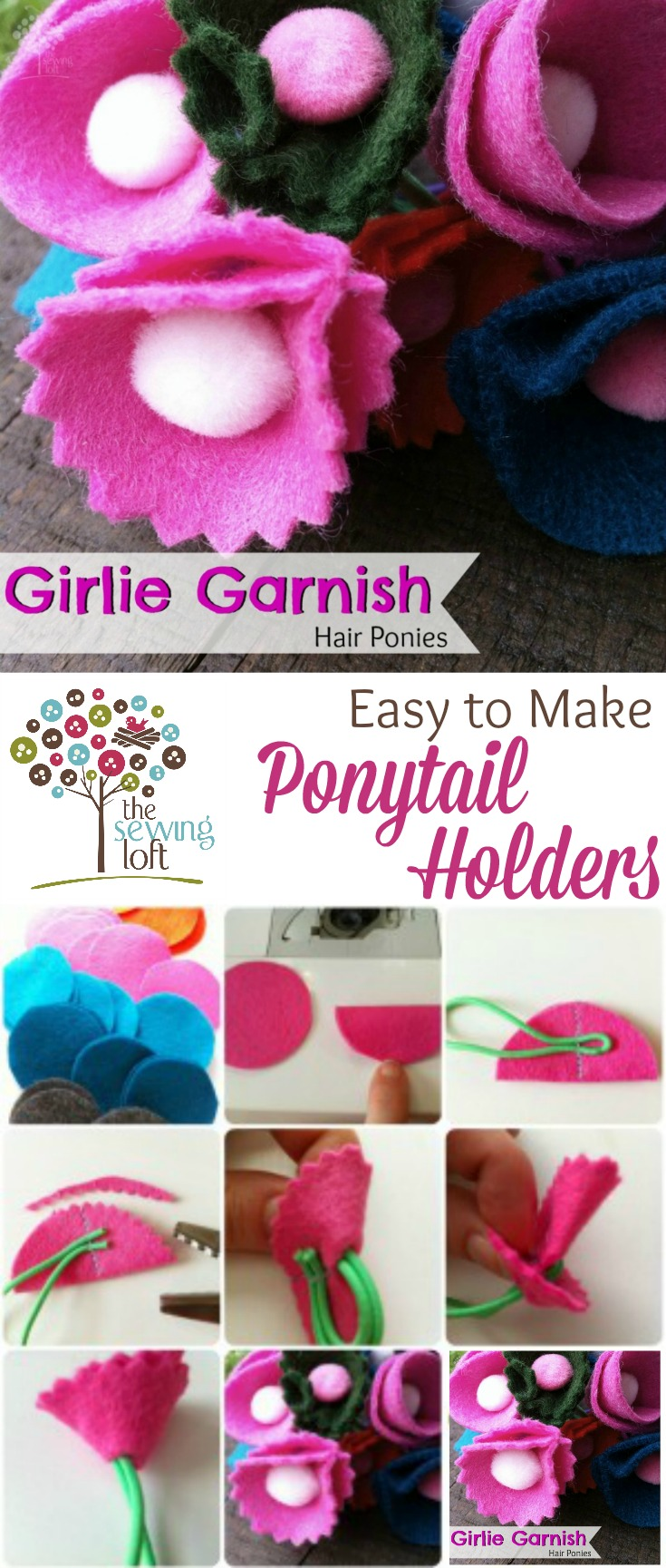 Add some spring to your hair with these easy to make ponytail holders.