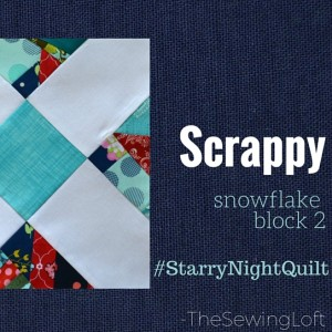 Scrappy Starry Night Block 2