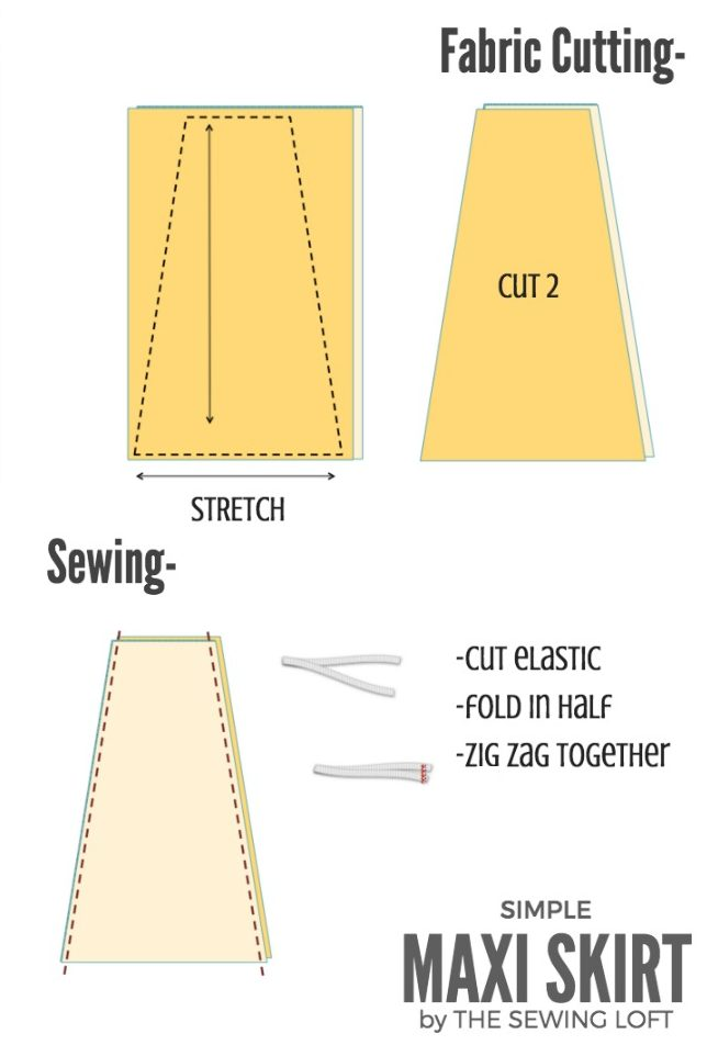 how to cut a line maxi skirt