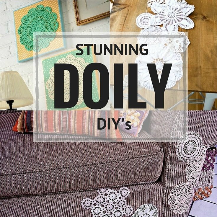 Create stunning home decor and one of a kinda garments with these vintage doily DIY ideas! The Sewing Loft