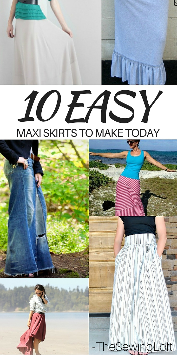 Wow, these maxi skirts are so simple to make and perfect for summer.