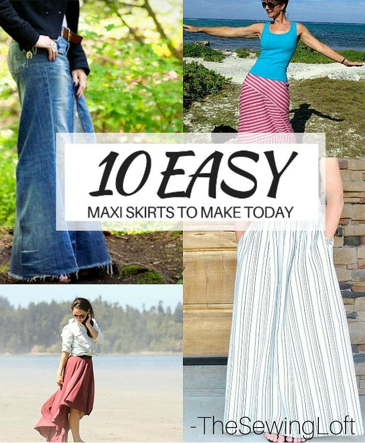 97ddf6778 Update your closet with a few of these easy to make maxi skirt patterns. The