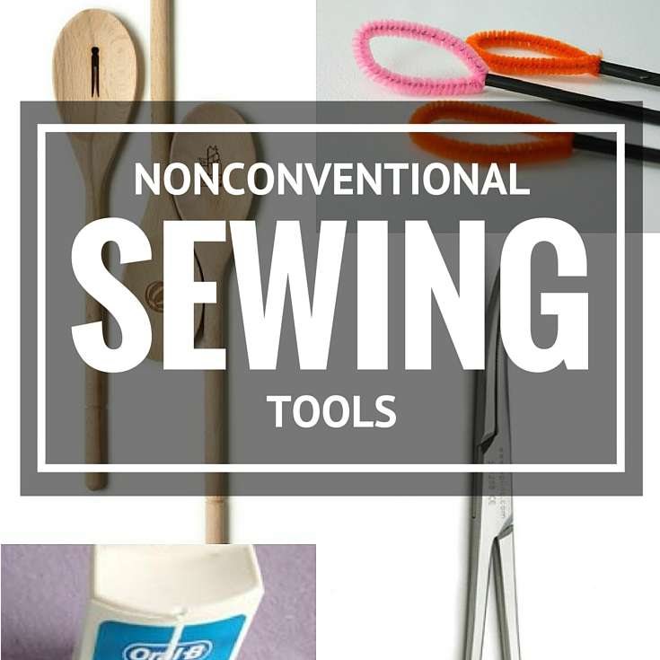 Holy Cow, I never would have thought to use these everyday items could double as nonconventional sewing tools but WOW, I think they can really be helpful.