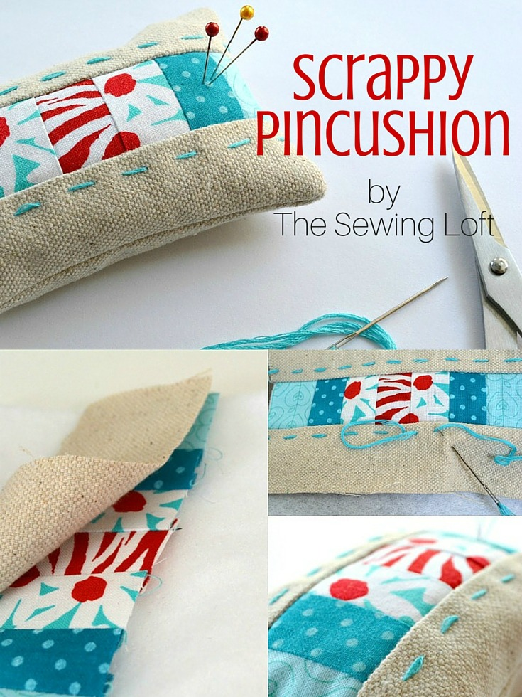 This scrappy pincushion pattern is perfect for smaller pieces of leftover fabrics. Step by step instructions make it easy for even a beginner to stitch at home.