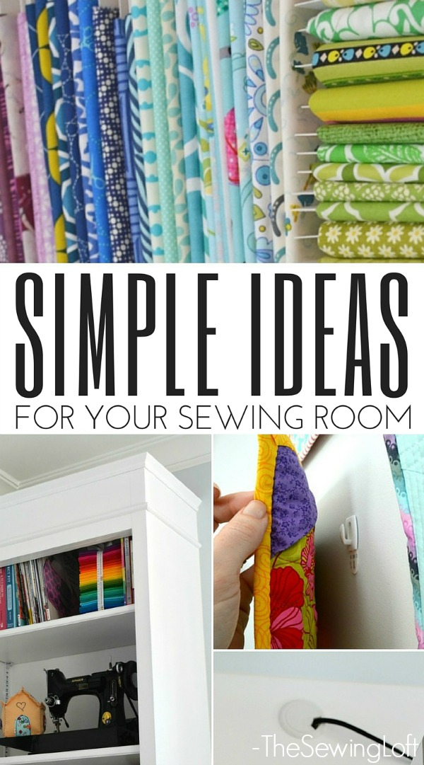 5 Simple Ideas Sewing Room