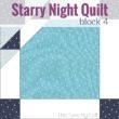 Block 4 Cat's Tooth | Starry Night Quilt