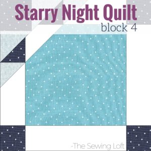 Block 4 Cat's Tooth | Starry Night Quilt