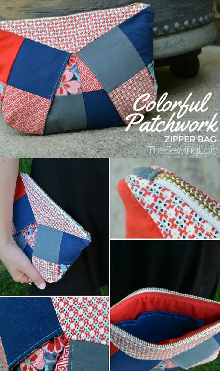 Colorful Patchwork Bag Perfect Seams