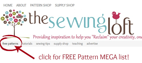 Photo gallery of over 50 free sewing patterns from The Sewing Loft. Patterns range from quick and easy to custom clothing.