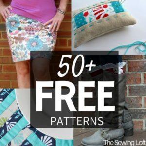 50+ Free Sewing Patterns