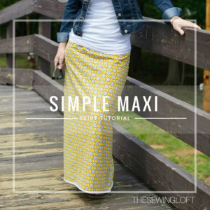 Simple Maxi Skirt DIY for Your Closet