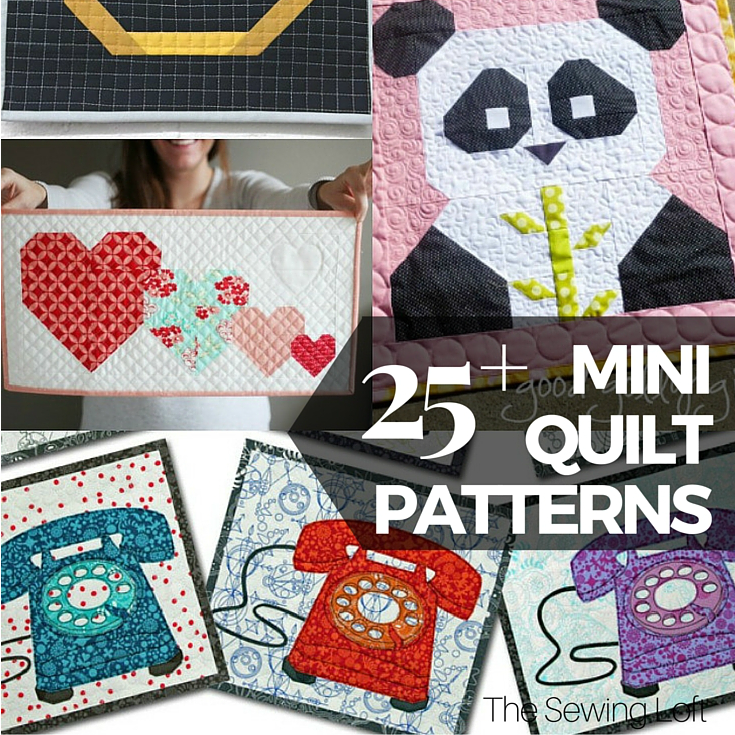 40 Free Mini Quilt Patterns The Sewing Loft Impressive Mini Quilt Patterns