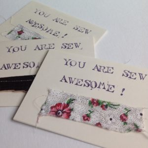 Sew Awesome Cards