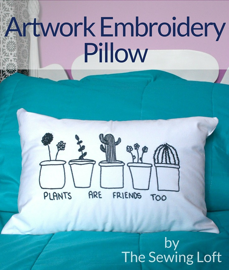 See how to transform your child's drawings into artwork embroidery. The process is really amazing and such a simple DIY project.