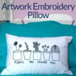 Artwork Embroidery Pillow