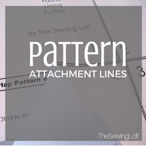 Pattern attachment lines are commonly found in printed pdf patterns. Learn how to identify and match them properly for the best pattern performance.