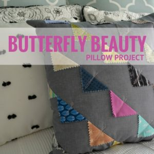DIY Butterfly Beauty Pillow Cover