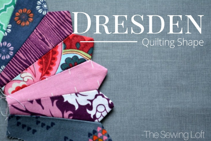 A dresden plate is a circular shaped quilt pattern dating back to the late 1920s and 30s featuring small scraps of fabric.