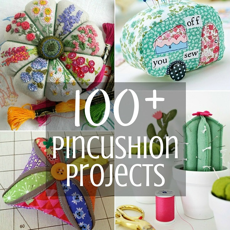 100+ free patterns to make a new pincushion for your sewing space.