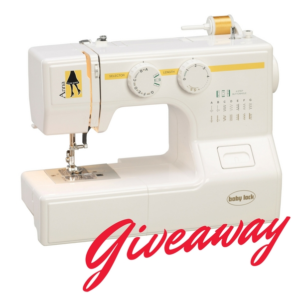 I'm entering to win a Anna sewing machine from BabyLock. Have you entered yet?