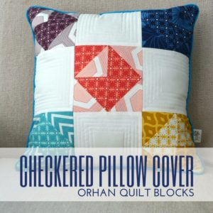 Checkered Pillow Cover Block Buster