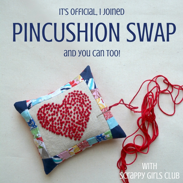 It's time for another SWAP with the Scrappy Girls Club. They asked and we answered with a big fat YES for pincushions! Sign up today to be teamed up with your perfect partner and recieve tons of helpful hints and inspiration.