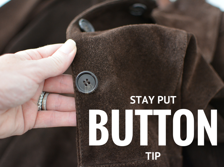 Add an extra layer of protection to your clothing with this no sew quick tip from The Sewing Loft. It is a sure fire way to keep all your buttons in place.