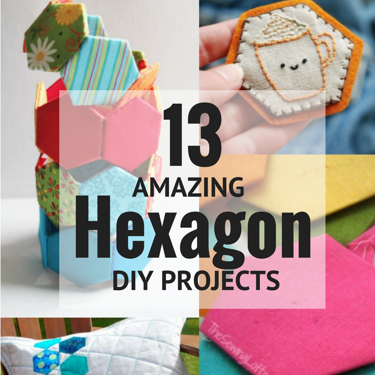 I'm inspired by these 13 amazing DIY hexagon projects.