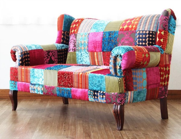 Transform your space with one of these outrageous patchwork furniture pieces.